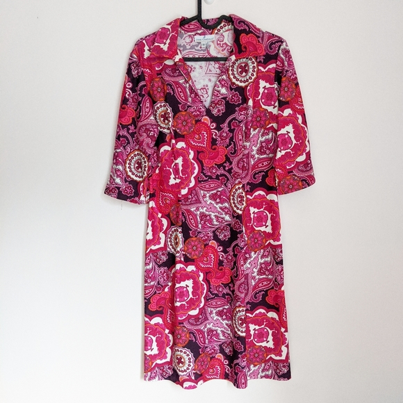 Jude Connally Dresses & Skirts - Jude Connally Michelle Paisley Collared Dress S